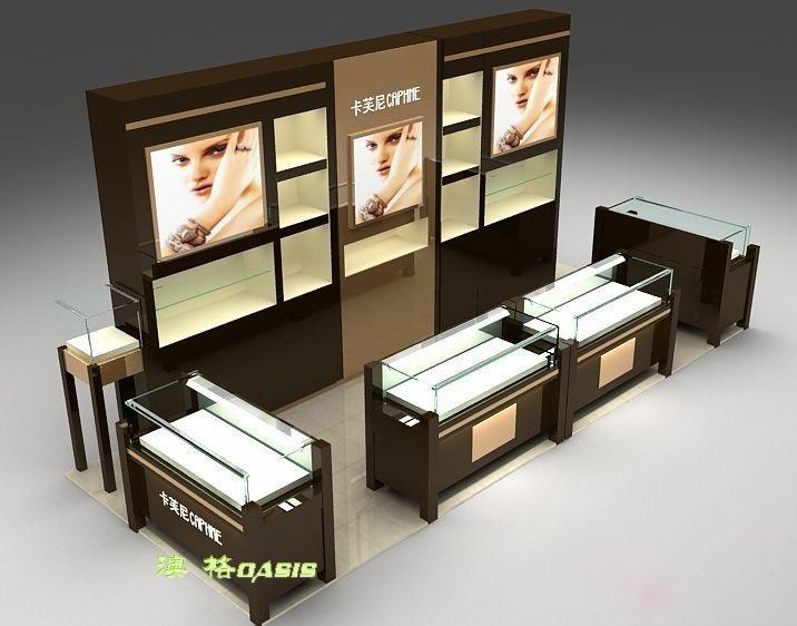 化妆品展柜 (4)
